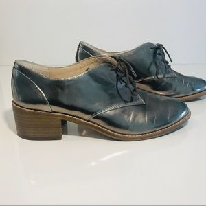 LOUISE ET CIE Metallic Almond Toe Oxford 7.5